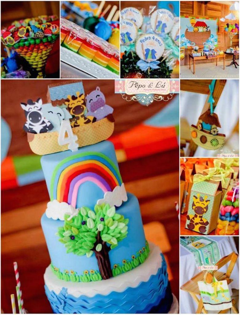 festa-infantil-arca-de-noé-bolo