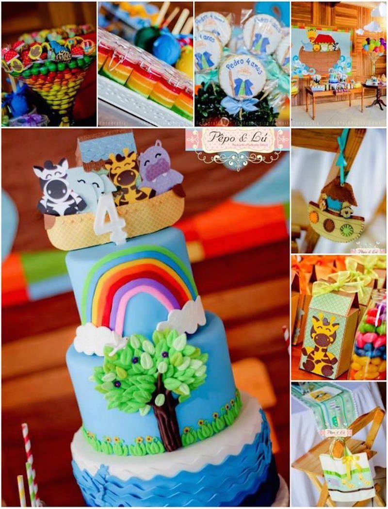 Agora fiquem com algumas decoração de festa infantil Arca de Noé