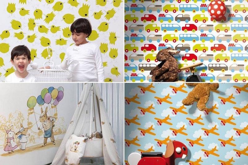 26 ideias de papel de parede para quarto infantil - Papel infantil para paredes ...