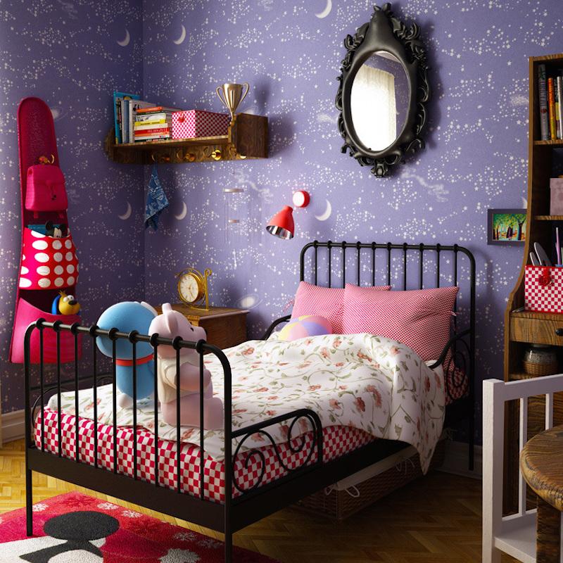 papel-de-parede-quarto-infantil-roxo