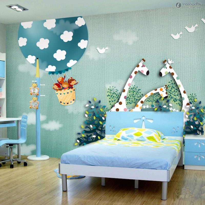 26 ideias de papel de parede para quarto infantil for Papel para empapelar infantil