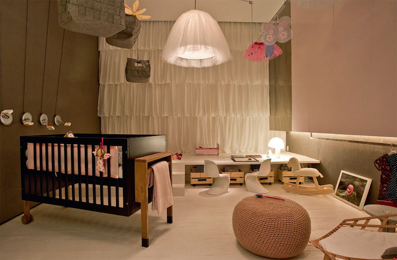 28 ideias de cortinas para quarto de bebês