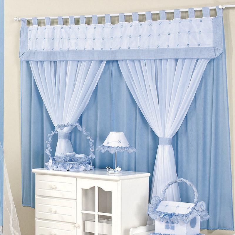 28 ideias de cortinas para quarto de beb s