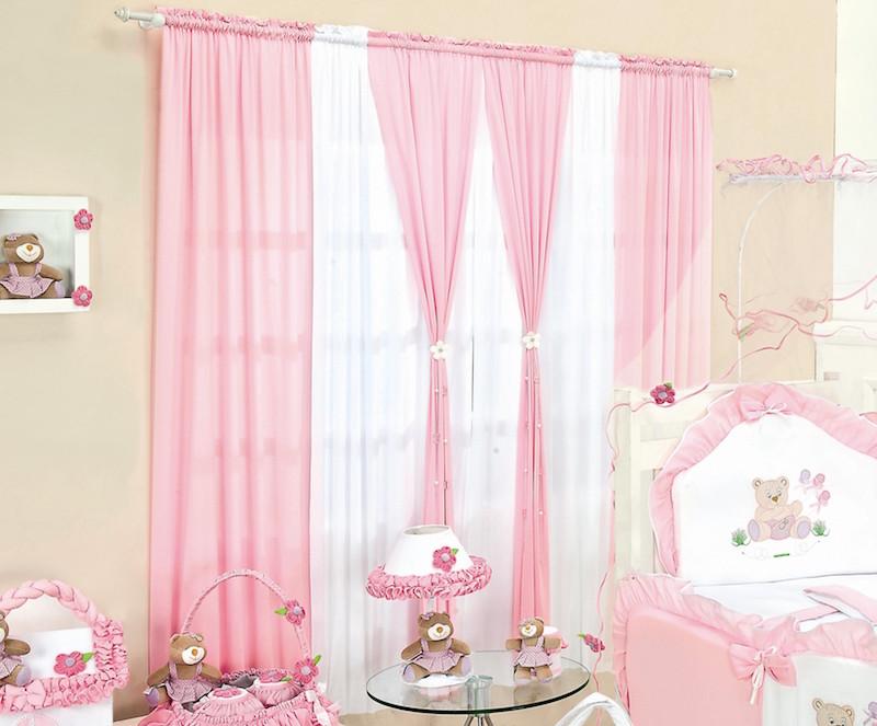 28 ideias de cortinas para quarto de beb s - Cortinas infantil ...