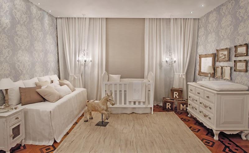 28 ideias de cortinas para quarto de bebês ~ Cores De Parede Para Quarto De Bebe Masculino