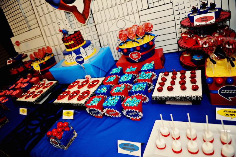 festa-infantil-homem-aranha-mesa-doces