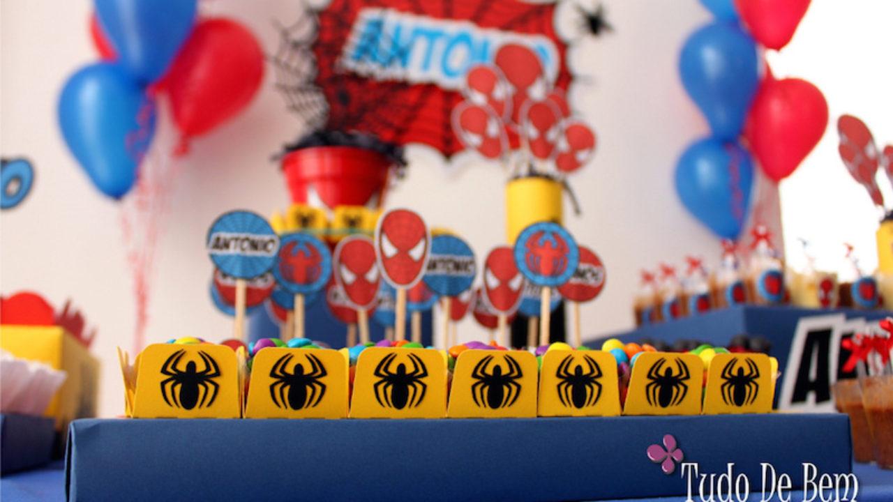 27 Ideias Para Decoracao De Festa Infantil Homem Aranha