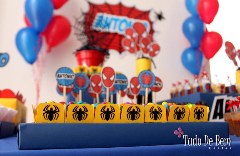27 Ideias Para Decora 231 227 O De Festa Infantil Homem Aranha
