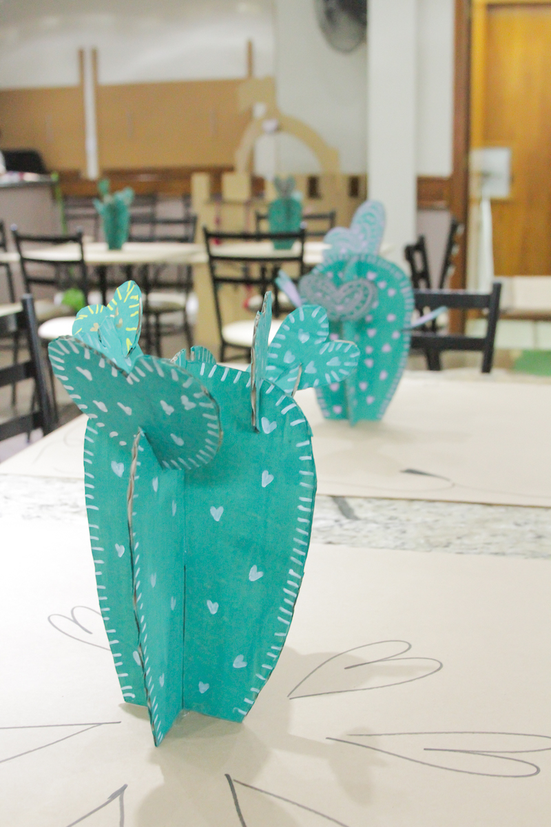 festa-infantil-papelão-cactus