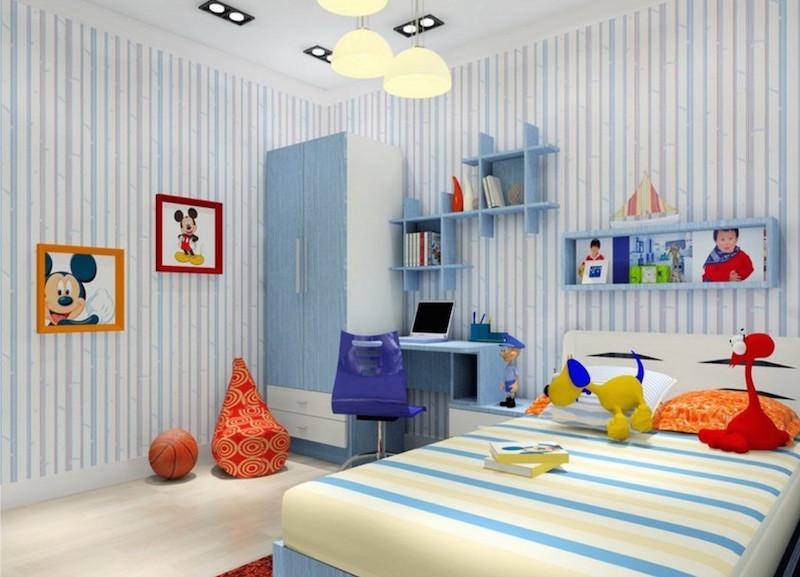 quarto-azul-listras