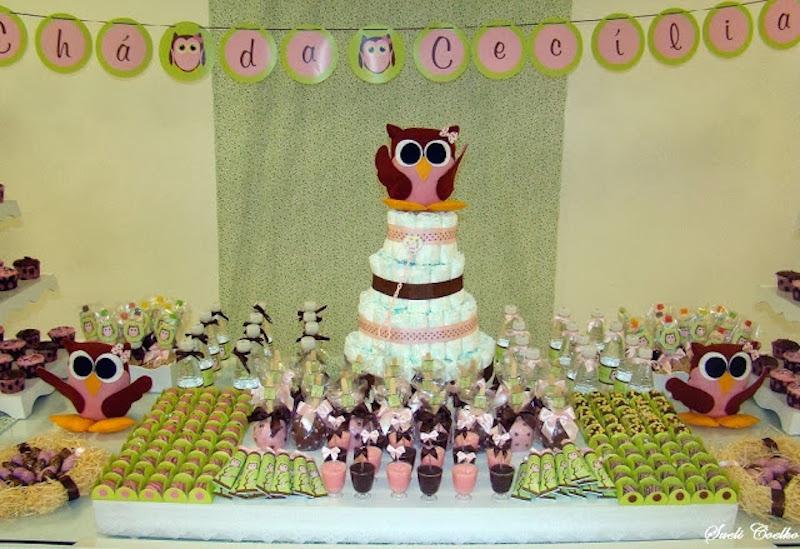 chá-de-bebê-coruja-verde