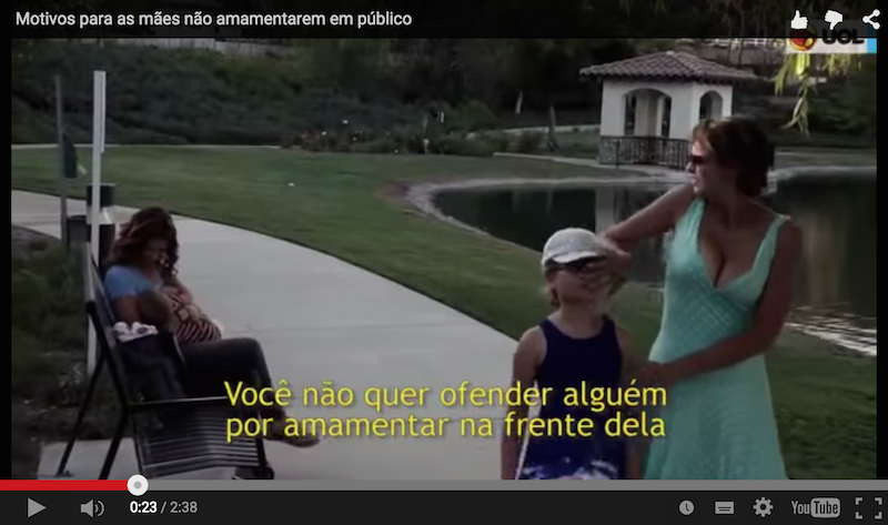 Vídeo irônico sugere 4 motivos para não amamentar em público