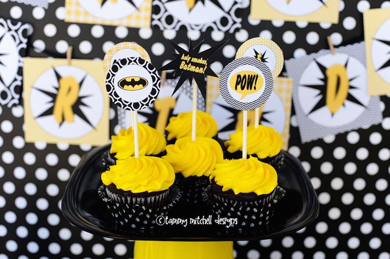 festa-batman-cupcakes
