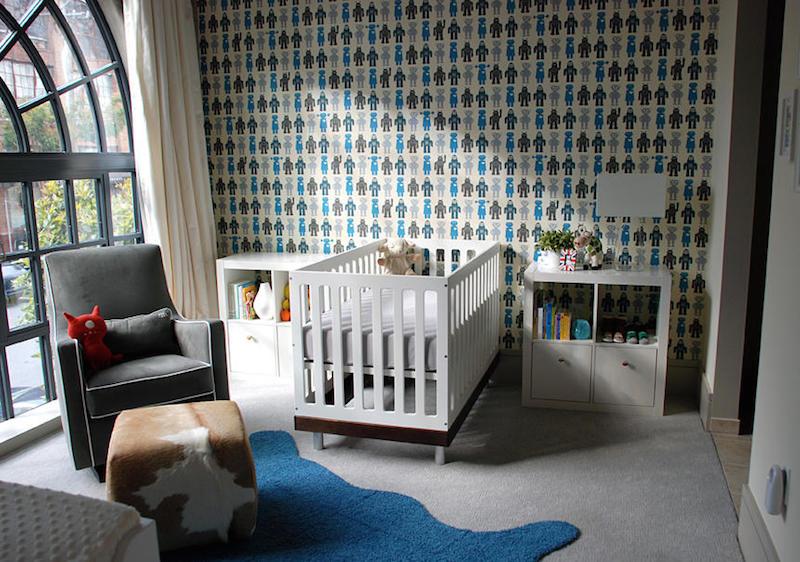 Dicas de papel de parede para quarto de bebê