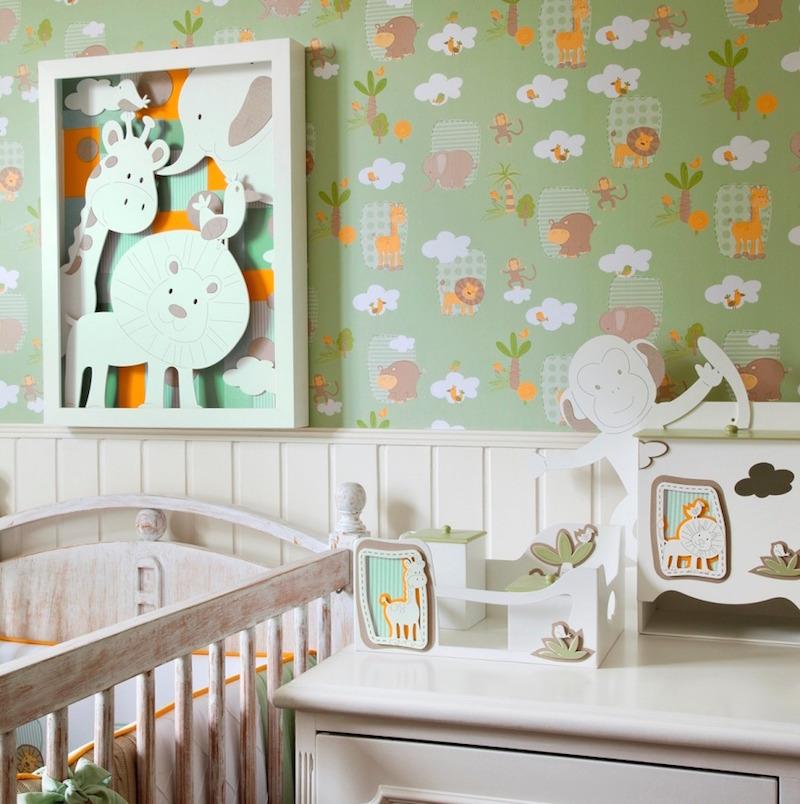Dicas de papel de parede para quarto de bebê ~ Wallpaper De Quarto