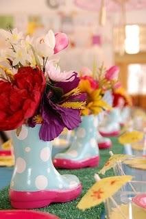 centro de mesa chá de bebê fácil e bonito