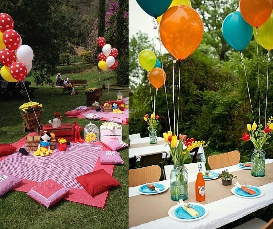 decoração festa infantil simples idéias caseiras