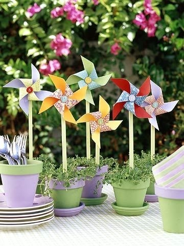 festa infantil primavera colorida
