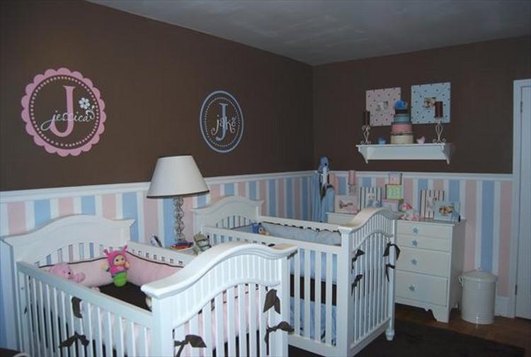 10 Ideias Práticas Para Decorar Um Quarto de Bebê Gêmeos! ~ Quarto Rosa E Marrom Jovem