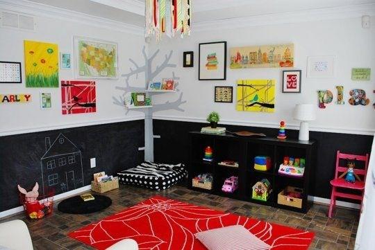 quarto infantil parede de lousa só embaixo