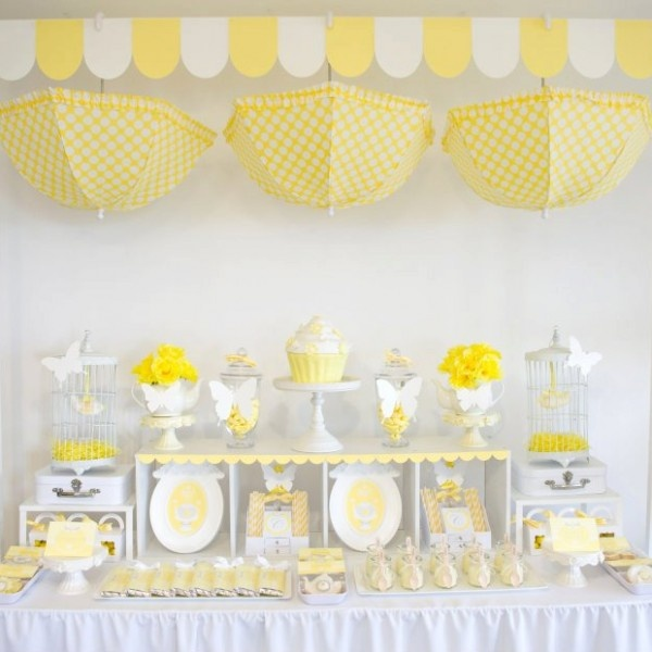 decoracao azul e amarelo para cha de bebe : decoracao azul e amarelo para cha de bebe: ou podem ser a personagem principal de uma chá de bebê para meninas