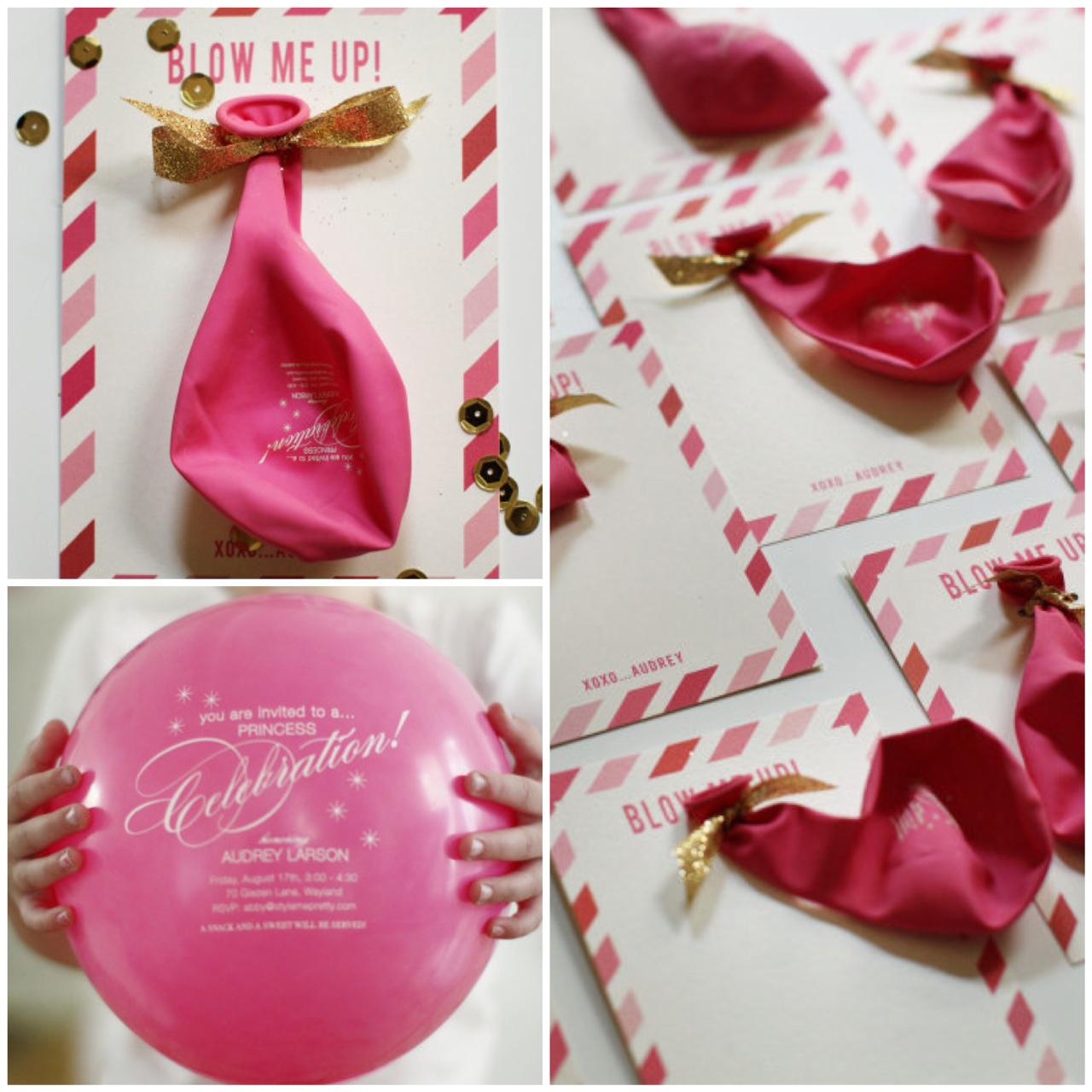 convite de aniversário balão