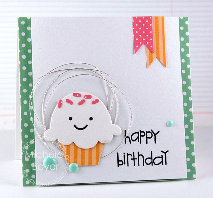 convite de aniversário cupcake