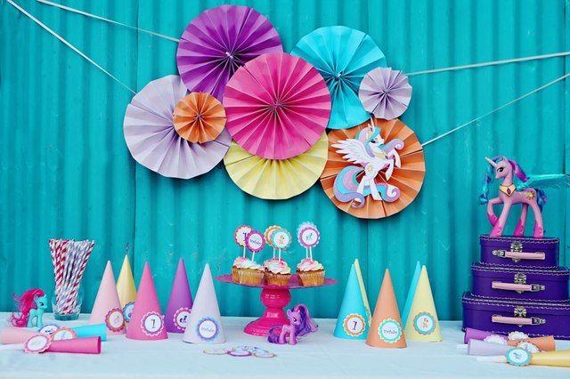 festa infantil my litlle poney mesa