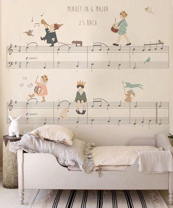 quarto de menina música