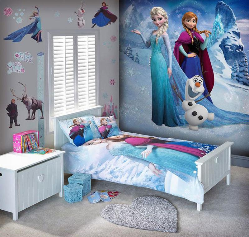 Fa a uma decora o de quarto infantil especial com o tema for Nas mural queens