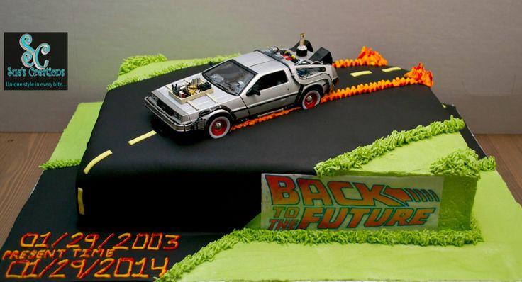 festa infantil de volta para o futuro bolo carro brinquedo