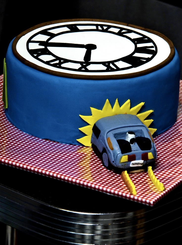 festa infantil de volta para o futuro bolo simples