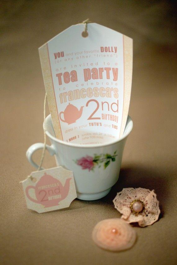 festa infantil chá de bonecas convite