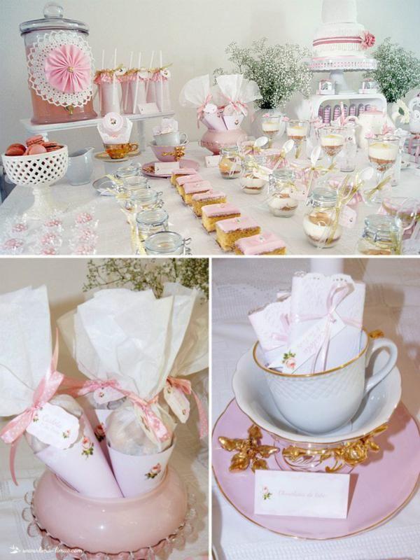festa infantil chá de bonecas mesa completa