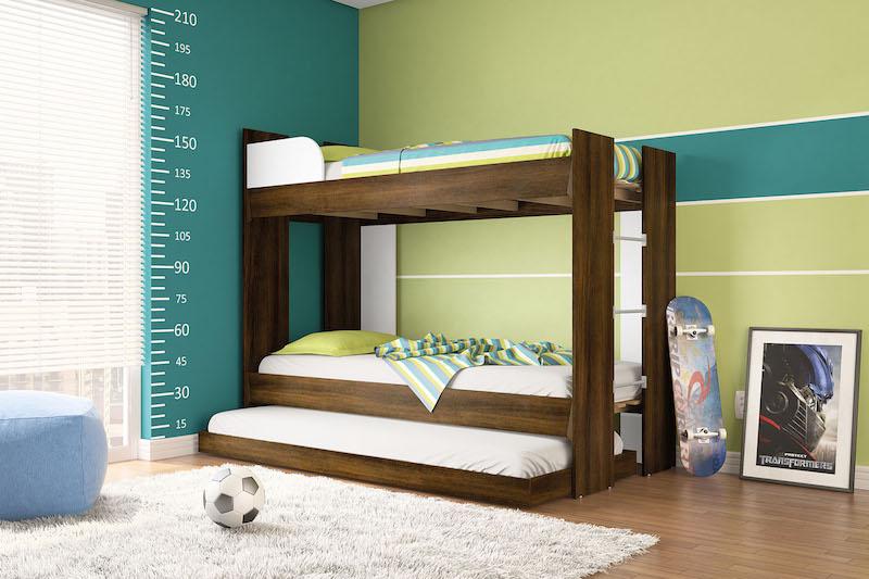 Como ter espaço em quarto infantil com mais de uma criança ~ Quarto Planejado Triliche