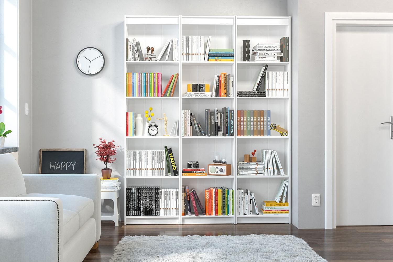 Dicas para organizar a estante de livros da fam lia - Estantes para pared ...