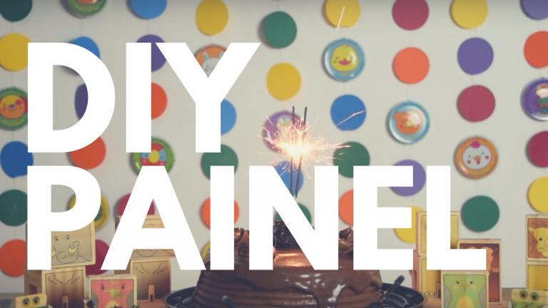 Diy com Nestlé: Painel colorido para festa infantil