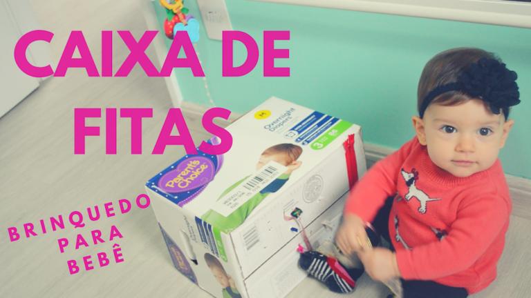 Vídeo: Brinquedo para bebês – Fazendo uma Caixa de fitas