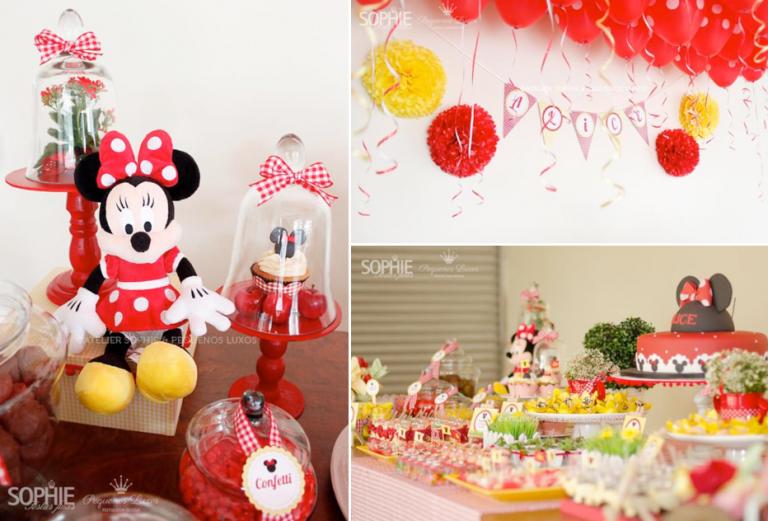 30 lindas ideias para você fazer uma Festa Minnie