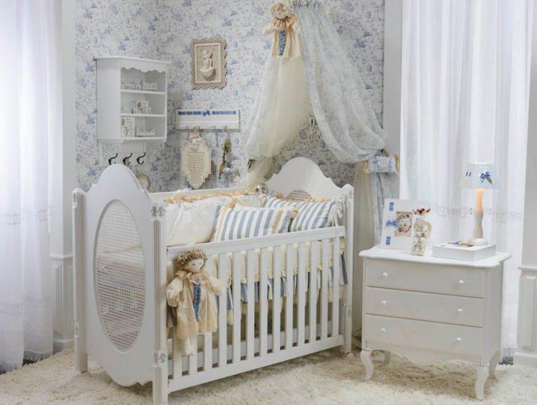 Quarto de Bebê Provençal – estilo para meninos e meninas