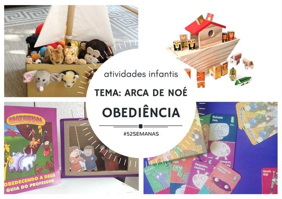 Atividades Infantis – Arca de Noé – Obediência
