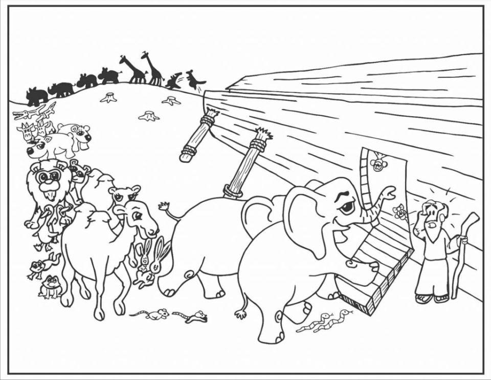 desenhos para colorir arca de noé