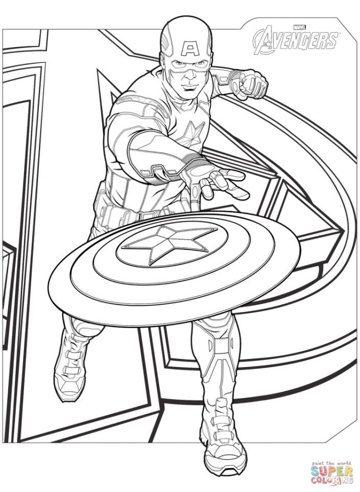 desenhos para colorir dos Vingadores