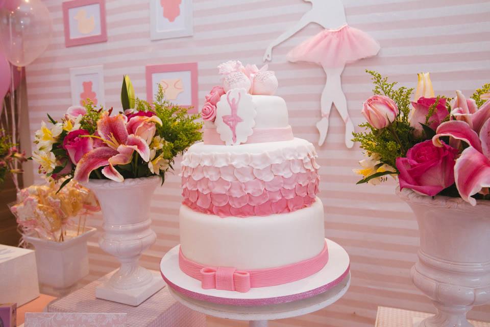 bolo para festa infantil bailarina