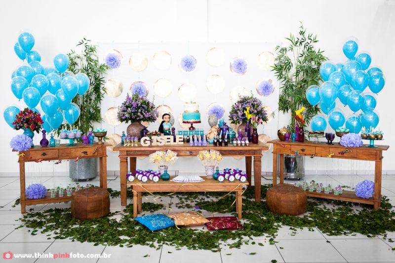 Decoração de festa infantil princesa Jasmine