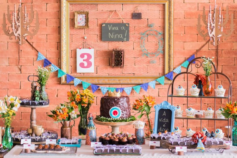 decoração de festa princesa Merida