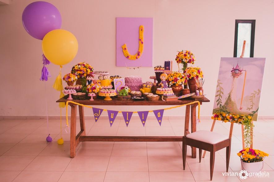 decoração de festa infantil Rapunzel