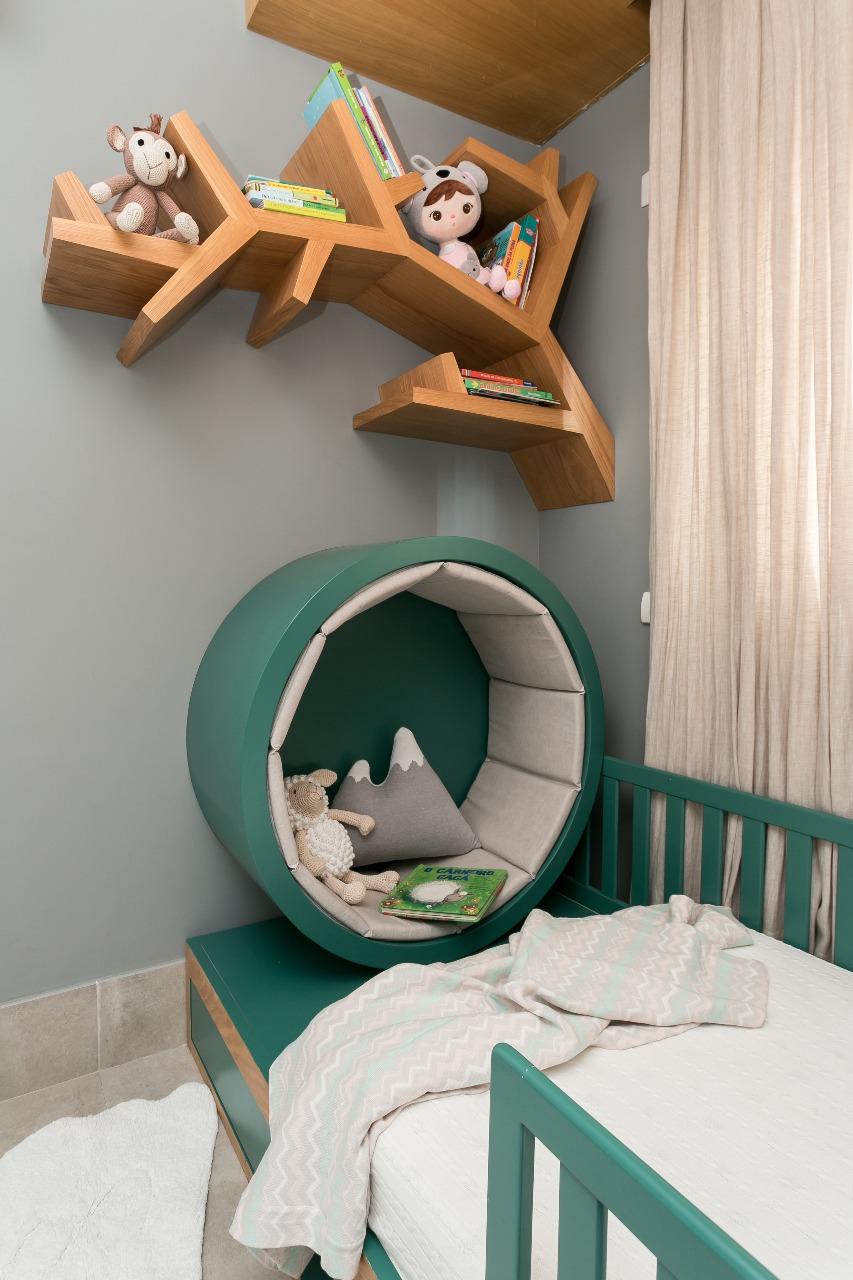 estantes para quarto de bebê