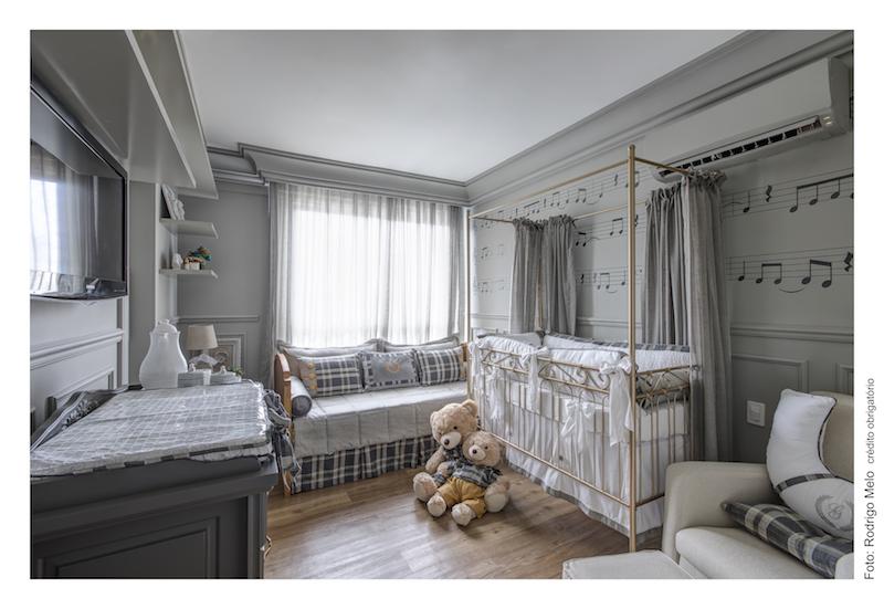 quarto de bebê menino cinza