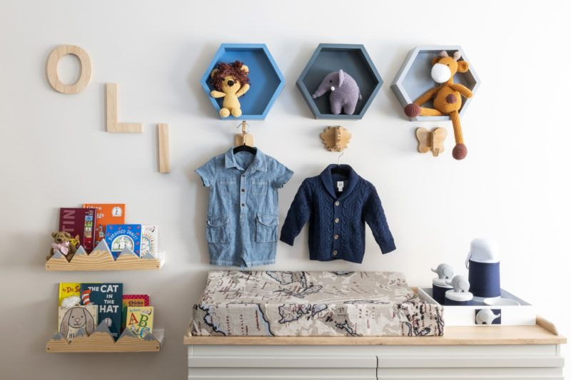 quarto de bebe menino com tema Safari